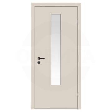 Дверь техническая деревянная со стеклом одностворчатая (Окрашенная) серия Интер мод.04