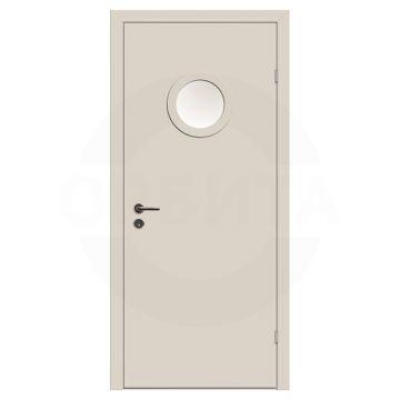 Дверь техническая деревянная со стеклом одностворчатая (Окрашенная) серия Интер мод.10
