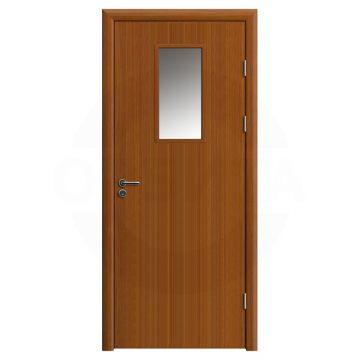 Дверь противопожарная деревянная со стеклом одностворчатая (экошпон) серия огнес модель 04