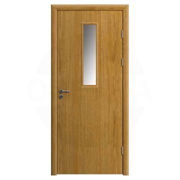 Дверь противопожарная деревянная со стеклом одностворчатая (шпон) серия огнес модель 02