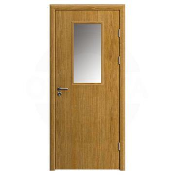 Дверь противопожарная деревянная со стеклом одностворчатая (шпон) серия огнес модель 03