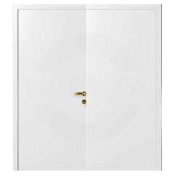 Дверь пластиковая двустворчатая белая гладкая (не типовых размеров)