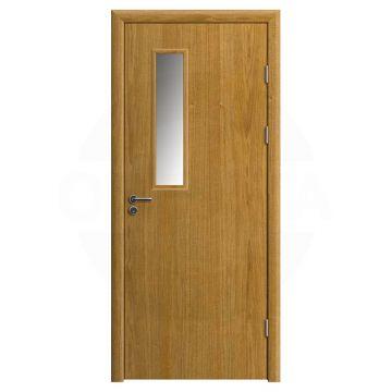 Дверь противопожарная деревянная со стеклом одностворчатая (шпон) серия огнес модель 01