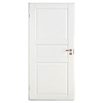 Дверь белая одностворчатая 3-х филенчатая