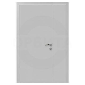 Дверь серая RAL7035 пластиковая полуторная Моноколор гладкий