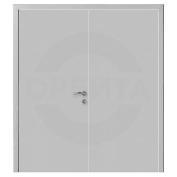 Дверь серая RAL7035 пластиковая двустворчатая Моноколор