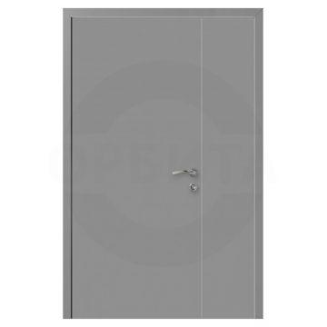 Дверь серая RAL7040 пластиковая полуторная Моноколор гладкий