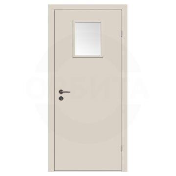 Дверь техническая деревянная со стеклом одностворчатая (Окрашенная) серия Интер мод.02