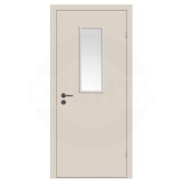 Дверь техническая деревянная со стеклом одностворчатая (Окрашенная) серия Интер мод.03