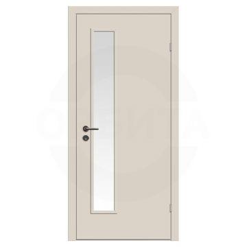 Дверь техническая деревянная со стеклом одностворчатая (Окрашенная) серия Интер мод.05