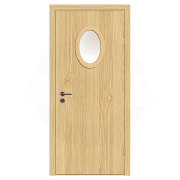 Дверь техническая деревянная со стеклом одностворчатая (Экошпон) серия Интер мод.11