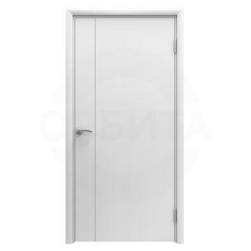 Дверь белая пластиковая гладкая Aquadoor с молдингом