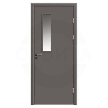 Дверь противопожарная деревянная со стеклом одностворчатая (cpl) серия огнес модель 01