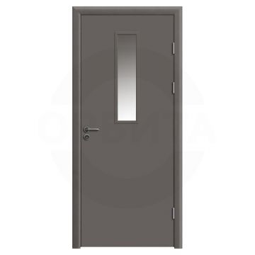 Дверь противопожарная деревянная со стеклом одностворчатая (cpl) серия огнес модель 02