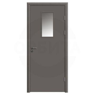 Дверь противопожарная деревянная со стеклом одностворчатая (cpl) серия огнес модель 04
