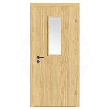 Дверь техническая деревянная со стеклом одностворчатая (Экошпон) серия Интер мод.03
