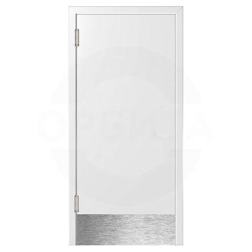 Дверь маятниковая пластиковая белая