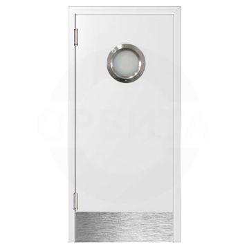 Дверь Kapelli маятниковая с мет. иллюминатором