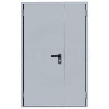 Дверь противопожарная Ei60 металлическая глухая полуторная RAL 7035 (толщина полотна 1,0мм)