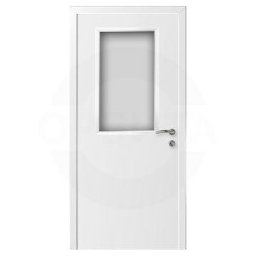 Дверь пластиковая со стеклом KAPELLI classic Гладкая ДО
