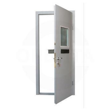Металлическая дверь в кассу с окном