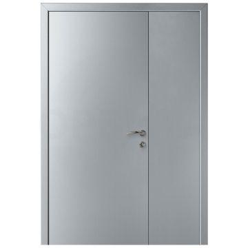 Дверь пластиковая полуторная KAPELLI-Classic Гладкая титан