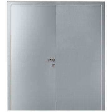 Дверь пластиковая двустворчатая KAPELLI-Classic Гладкая титан