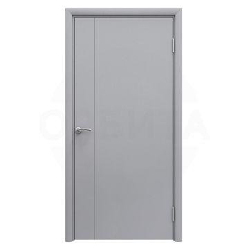 Дверь серая пластиковая гладкая Aquadoor с молдингом