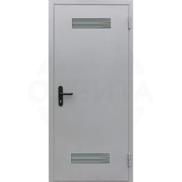 Дверь металлическая с вентиляционными решетками