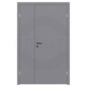 Дверь серая окрашенная полуторная глухая с четвертью Velldoris
