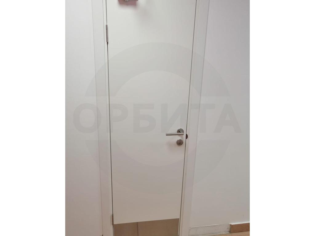 Дверь белая пластиковая KAPELLI-Classic Моноколор гладкий c отбойной пластиной