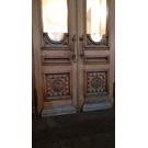 Двери из массива дуба с боковыми и верхними остекленными фрамугами (МХАТ, Москва) width=
