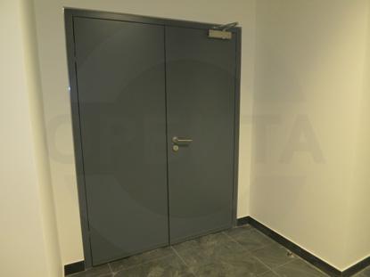Противопожарные двери со скрытыми петлями для лифтовых холлов, с пределом огнестойкости EI-30 (30 минут), 38 Дб, RAL 7040, пр-во Forma, Россия