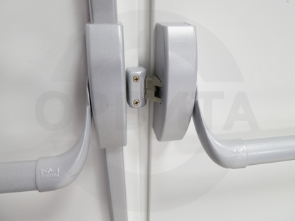 Ручка системы «Антипаника», для противопожарных дверей, со встроенным цилиндром. Производитель: «DORMA», Германия. Цилиндр «Doorlock», Россия