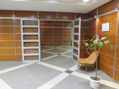 Дверь профильная двустворчатая (двупольная) со стеклом, цвет RAL 7035. Производство: г.Москва, Россия