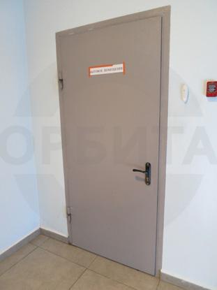 Дверь металлическая одностворчатая (однопольная) противопожарная (огнестойкая), EI 60. Цвет RAL 7040. Производство: г.Клин, Россия