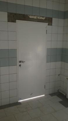 Пластиковые влагостойкие двери Капель/Kapelli, белые