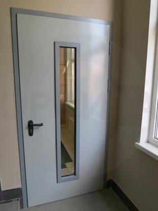 Противопожарная дверь EI60 со стеклом, пр-во Королев