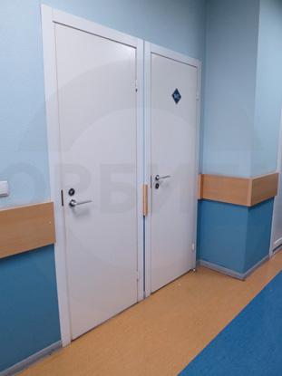 Белая облегченная офисная дверь финского типа, Д.Крафт