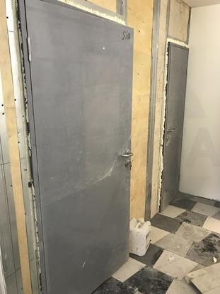 Пластиковые влагостойкие двери Капель/Kapelli, серые (RAL7035)