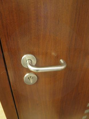 Металлические окрашенные двери. Фурнитура нерж.сталь Hoppe, Германия