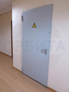 Противопожарная металлическая дверь EI-60. Покрытие: Окраска RAL-7035. Производство: Испания, «PADILLA»