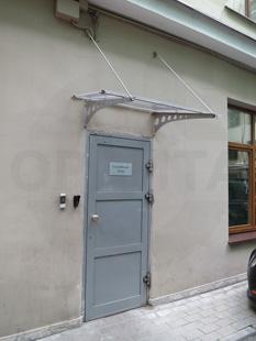 Наружная утеплённая алюминиевая дверь. Покрытие: окраска RAL-7040. Производство: Россия, г.Москва