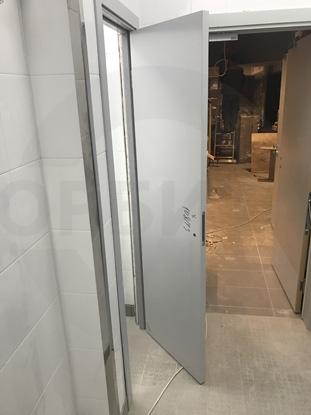 Пластиковые влагостойкие двери Капель/Kapelli, серые