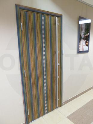 Внутренняя усиленная офисная дверь с четвертью. Натуральный шпон Зебрано