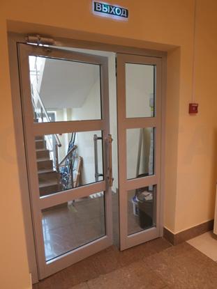 Алюминиевая входная дверь со стеклопакетом. Пр-во Н.Новгород