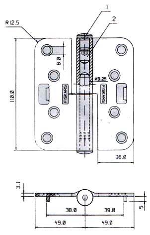 Петля FISKARS N3248-110 TMKS