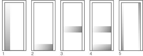 Схемы установки для для дверей Vivo Porte серии Интер